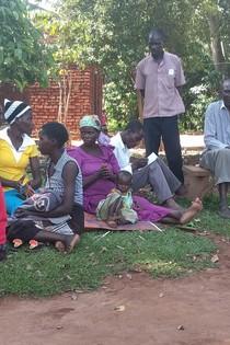 Child at Muira community meeting